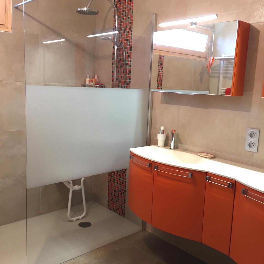 salle-de-bain-orange - Salle de Bain Dijon, carrelage ...